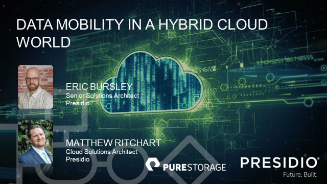 Data Mobility in a Hybrid Cloud World