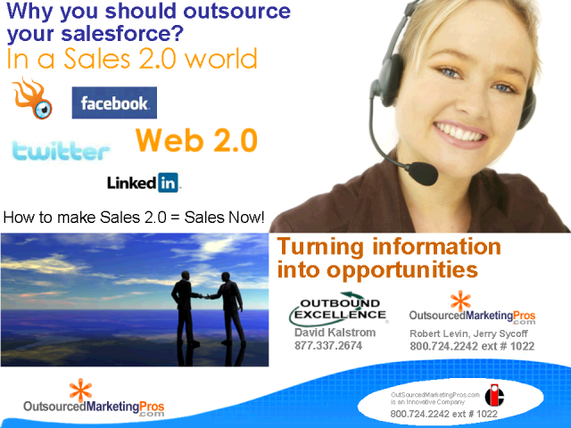 Make Sales 2.0=Sales Now!  -Outsourcing SaaS Cloud B2B Financial