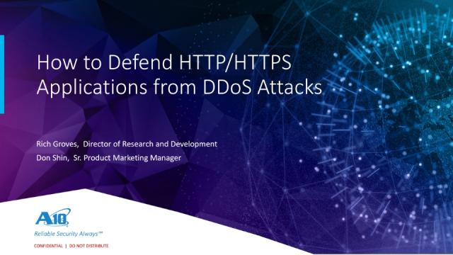 How to Defend HTTP/HTTPS Applications from DDoS Attacks