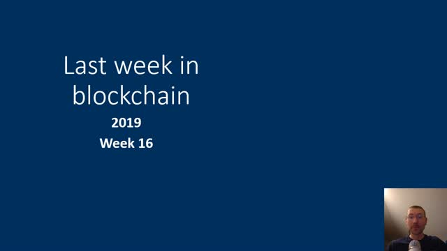 Last week in blockchain #54
