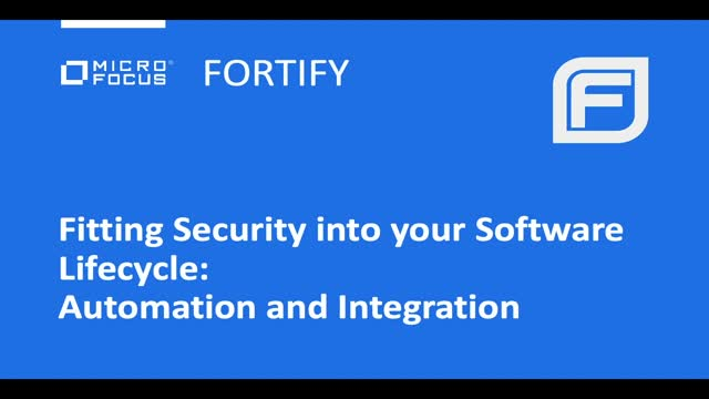 Fitting Security Into Your Software Lifecycle: Automation and Integration