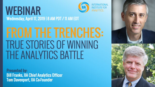From The Trenches: True Stories of Winning the Analytics Battle