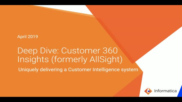 Introducing: Customer 360 Insights (formerly AllSight)