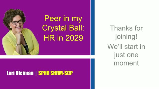Peer in my Crystal Ball: HR in 2029