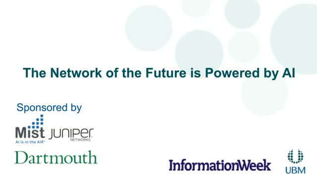 Network of the Future is Powered by AI: Dartmouth College Case Study