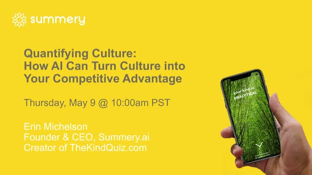 Quantifying Culture: How to Use AI to Turn Culture into Competitive Advantage