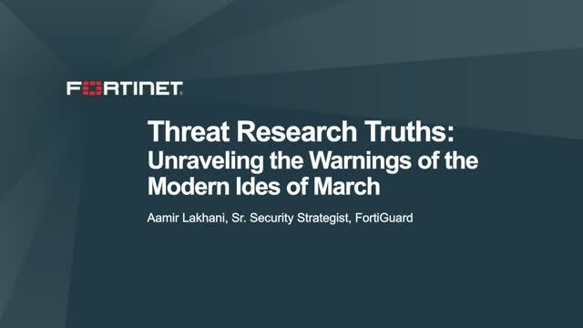 Threat Research Truths: Unraveling the Warnings of the Modern Ides of March