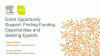 Grant Opportunity Support: Finding Funding Opportunities and Seeking Experts