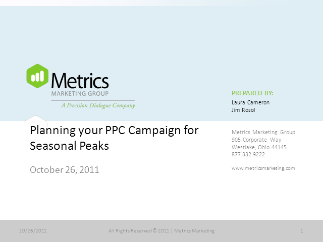 Planning your PPC Campaign for Seasonal Peaks