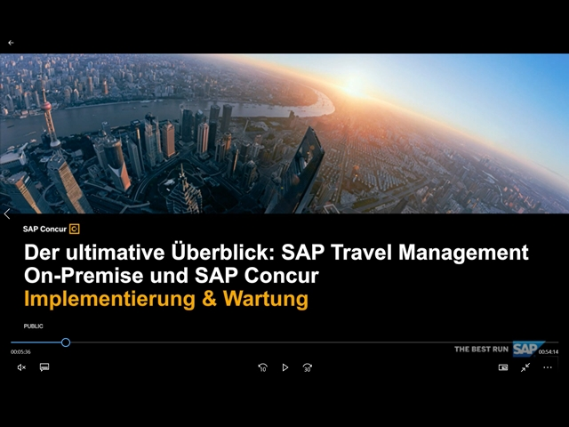 SAP Travel Management On-Premise und SAP Concur – Teil 2