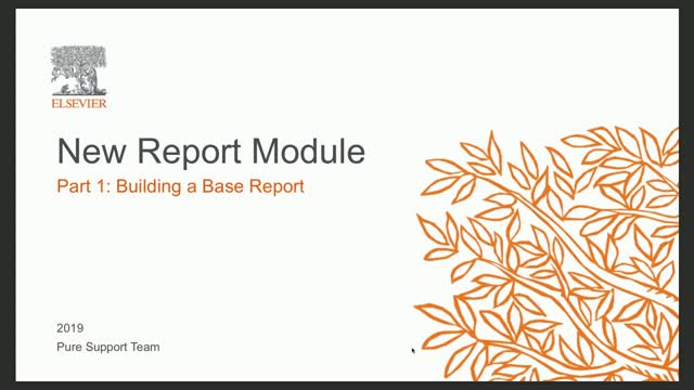 Foundation Class New Report Module P1: Building a Base Report