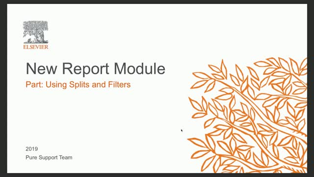 Foundation Class New Report Module P2: Using Splits and Filters
