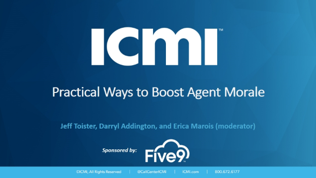 Practical Ways to Boost Agent Morale