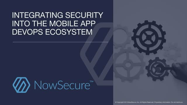 Integrating Security into the Mobile App DevOps Ecosystem