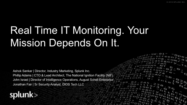 Real Time IT Monitoring. Your Mission Depends On It