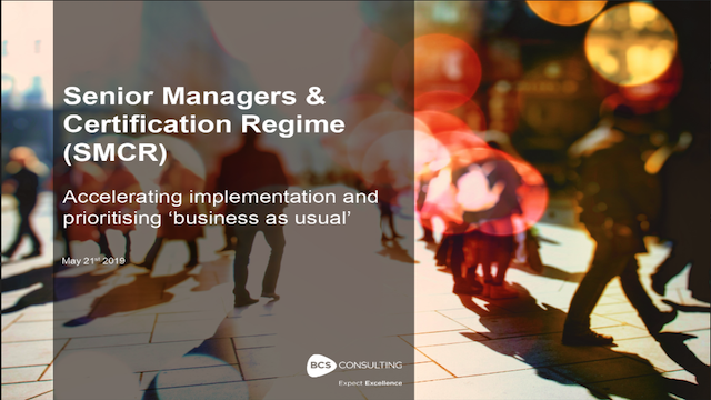SM&CR: how to accelerate and de-risk your implementation