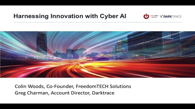 Harnessing Innovation with Cyber AI: FreedomTech and Darktrace