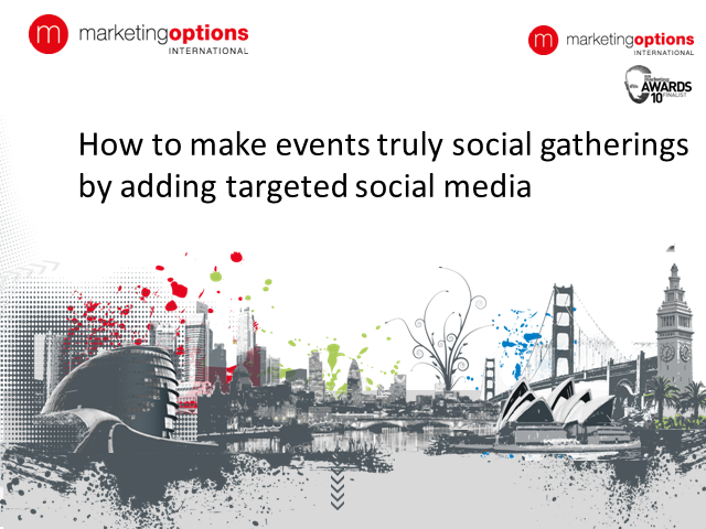 How to make events truly social gatherings by adding targeted social media
