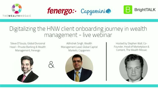 Digitalizing the HNW Client Onboarding Journey in Wealth Management