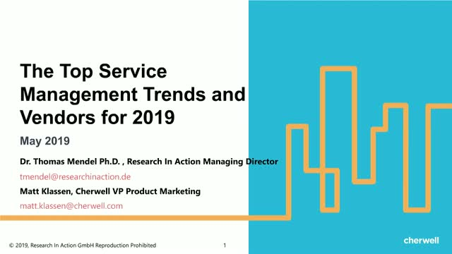 The Top Service Management Trends and Vendors for 2019