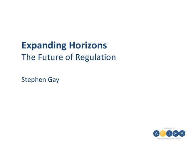 Expanded Horizons, the future of regulation