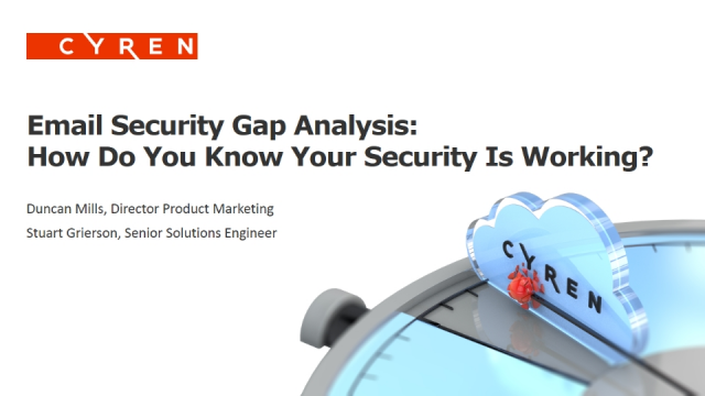Gap Analysis Measures the Effectiveness of Your Email Security