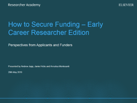 How to secure funding - ECR edition