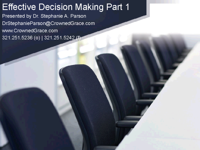 CGI Presents: Effective Decision Making!