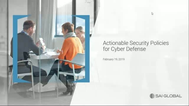 Actionable Security Policies for Cyber Defense