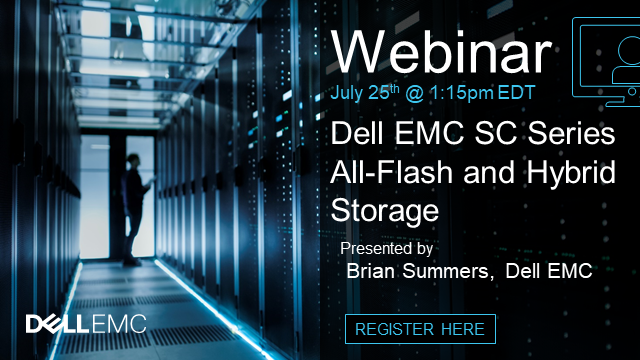 Dell EMC SC Series All-Flash and Hybrid Storage