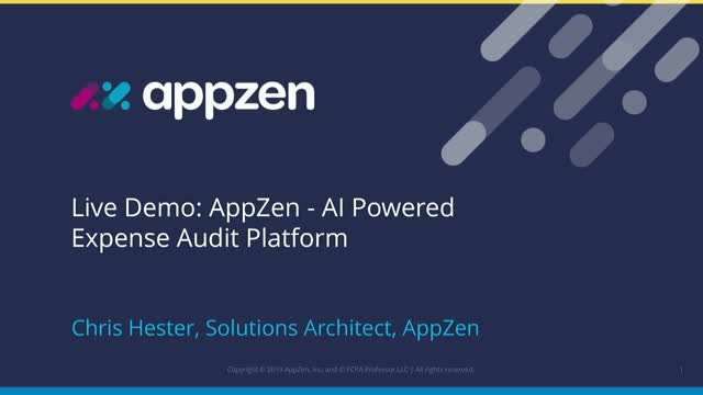 Live Demo: AppZen - AI Powered Expense Audit Platform