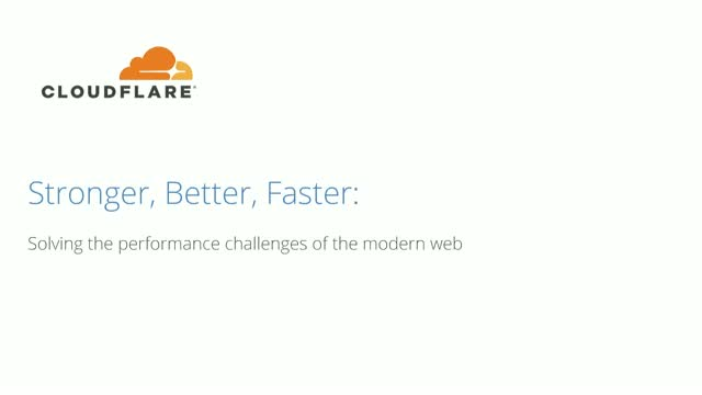 Stronger, Better, Faster: Solving the performance challenges of the modern web