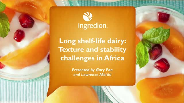 Long shelf-life dairy: Texture and stability challenges in Africa