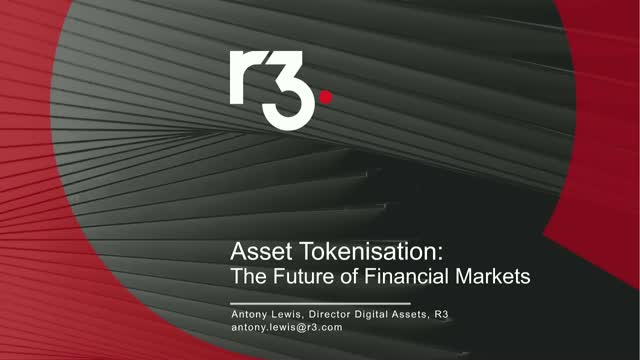 Asset tokenisation: The Future of Financial Markets