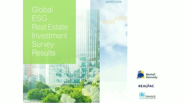 Global Real Estate Investor Survey on ESG Integration – Findings and Analysis