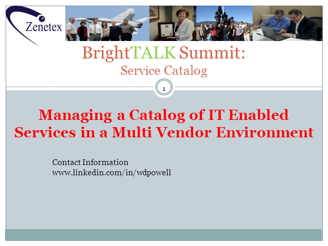 Service Catalog Challenges in a Multi-Vendor Environment