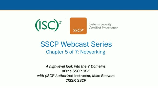 SSCP Webcast Series: Chapter 5 of 7