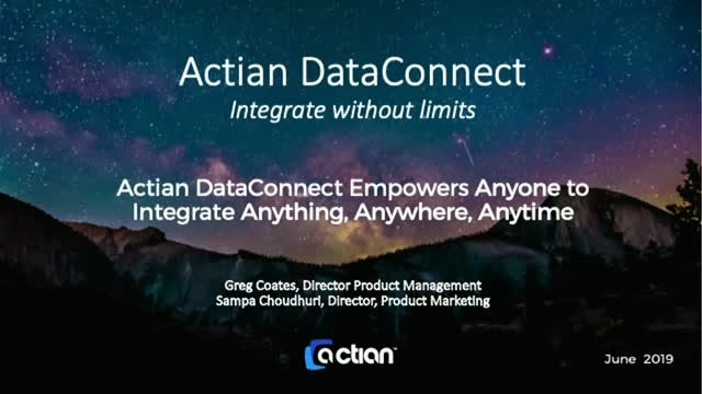 Actian DataConnect - Integrate Without Limits
