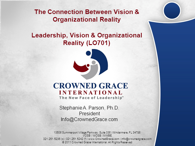 The Connection Between Vision & Organizational Reality