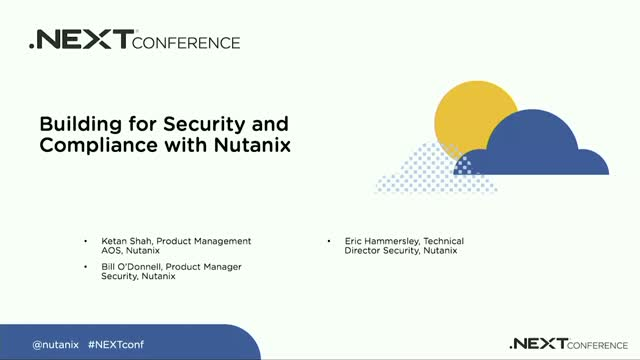 Building for Security and Compliance with Nutanix