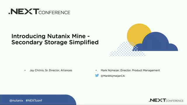 Introducing Nutanix Mine - Secondary Storage Simplified