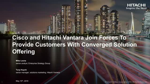 Cisco & Hitachi Vantara Join Forces To Provide Customers Converged Solutions