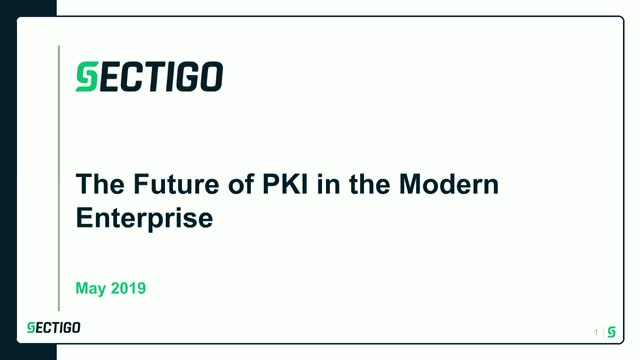 The Future of PKI in the Modern Enterprise