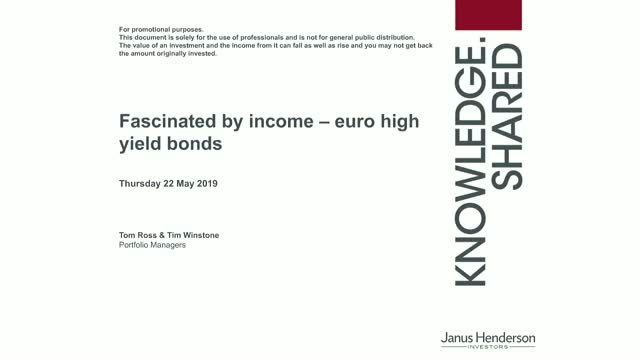 Fascinated by income – Euro high yield bonds