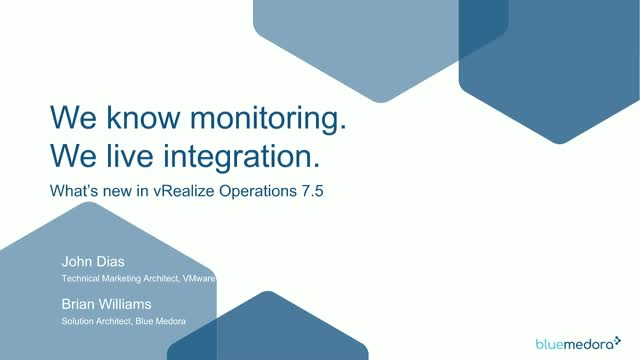 See vRealize 7.5 with True Visibility