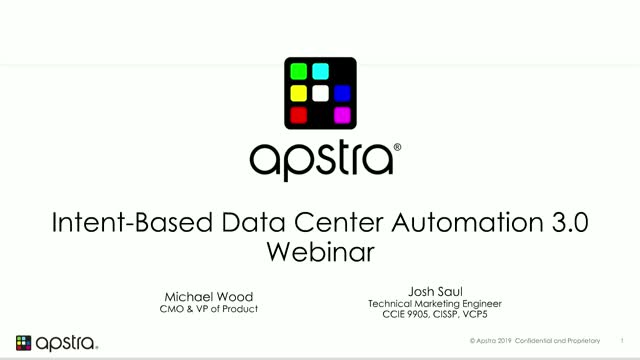 Apstra Intent-Based Data Center Automation 3.0