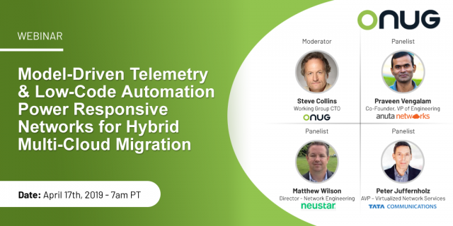 Webinar: Model-Driven Telemetry and Low-Code Automation Power Responsive Network