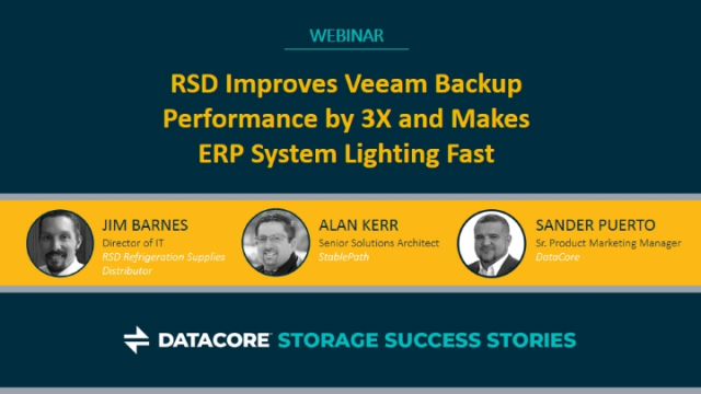 RSD Improves Veeam Backup Performance by 3X and Makes ERP System Lighting Fast