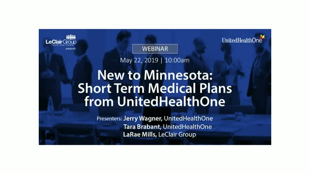 New to Minnesota: Short Term Medical Plans from UnitedHealthOne