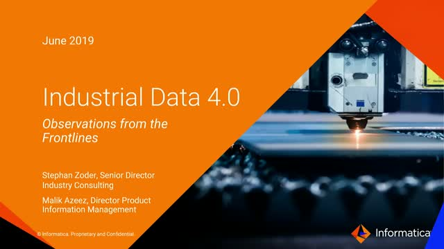 Industrial Data 4.0: Observations from the Frontlines